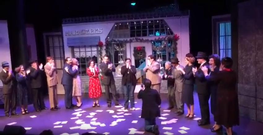 Dr. Bridget Moriarty Receives Surprise Marriage Proposal on NU Theatre Stage