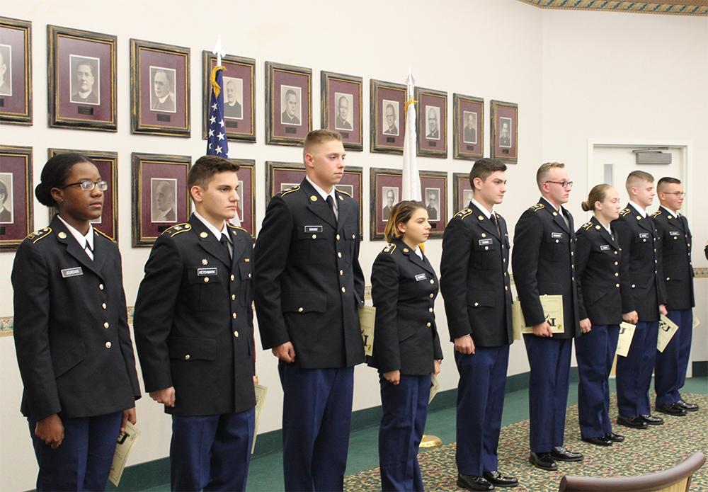 Nine Students Contract in Purple Eagle Battalion