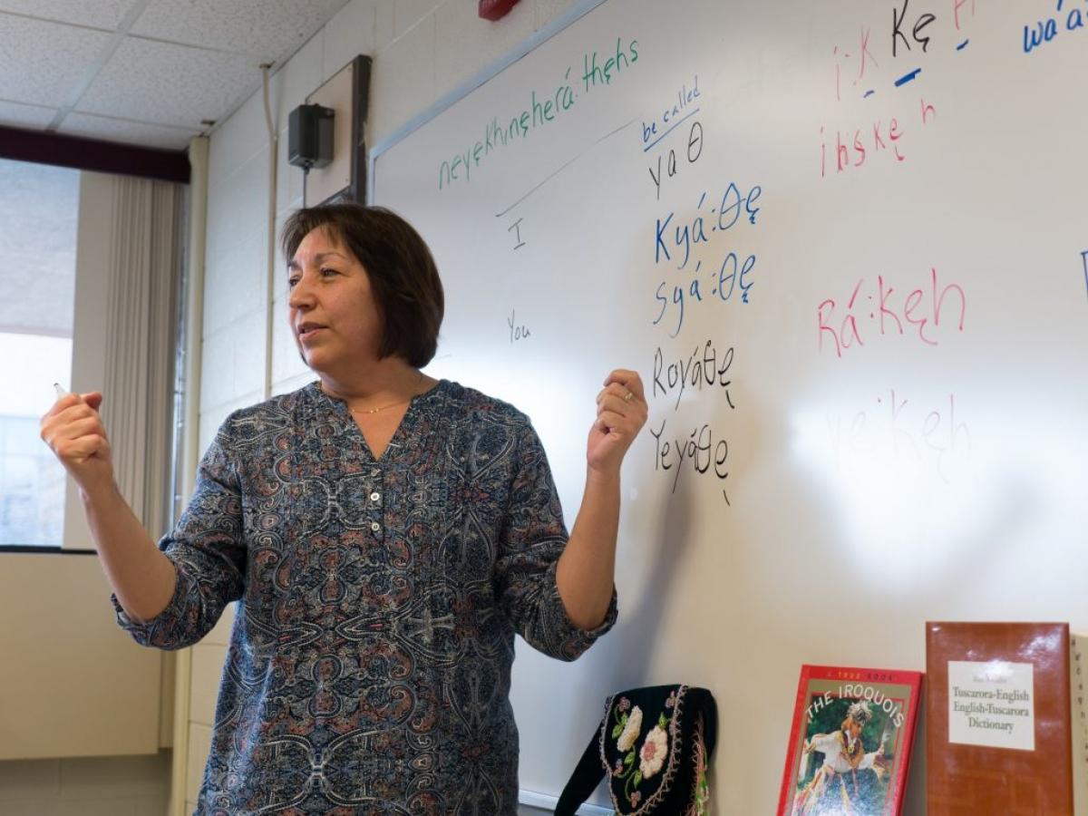 New york niagara county niagara university - Mary Betsy Bissell Is Teaching A New Course At Niagara University That Introduces Students To The Tuscarora Language