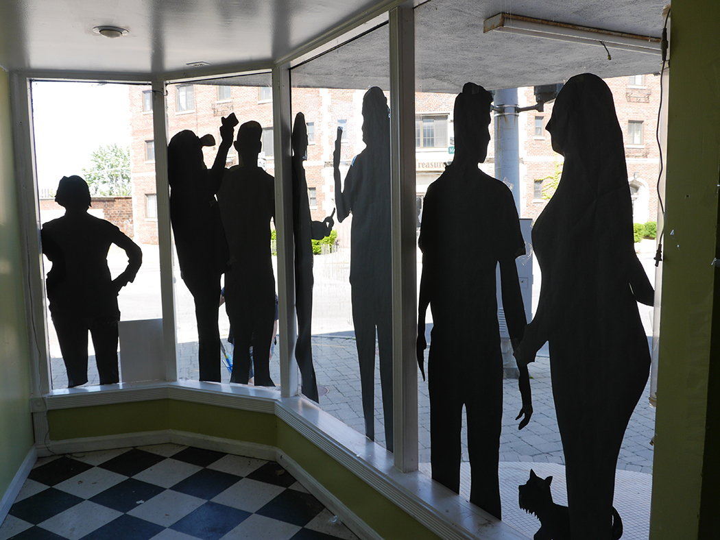 Niagara University Art Project Brings 'Shadow Selfies' To Vacant Niagara Falls Storefronts