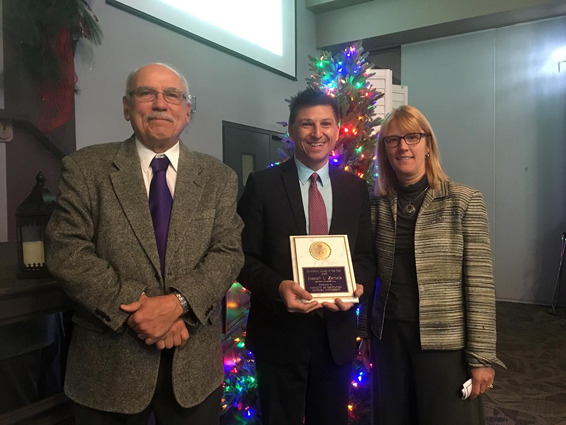 Blessed Trinity Principal Joseph Zaroda Honored by Niagara University