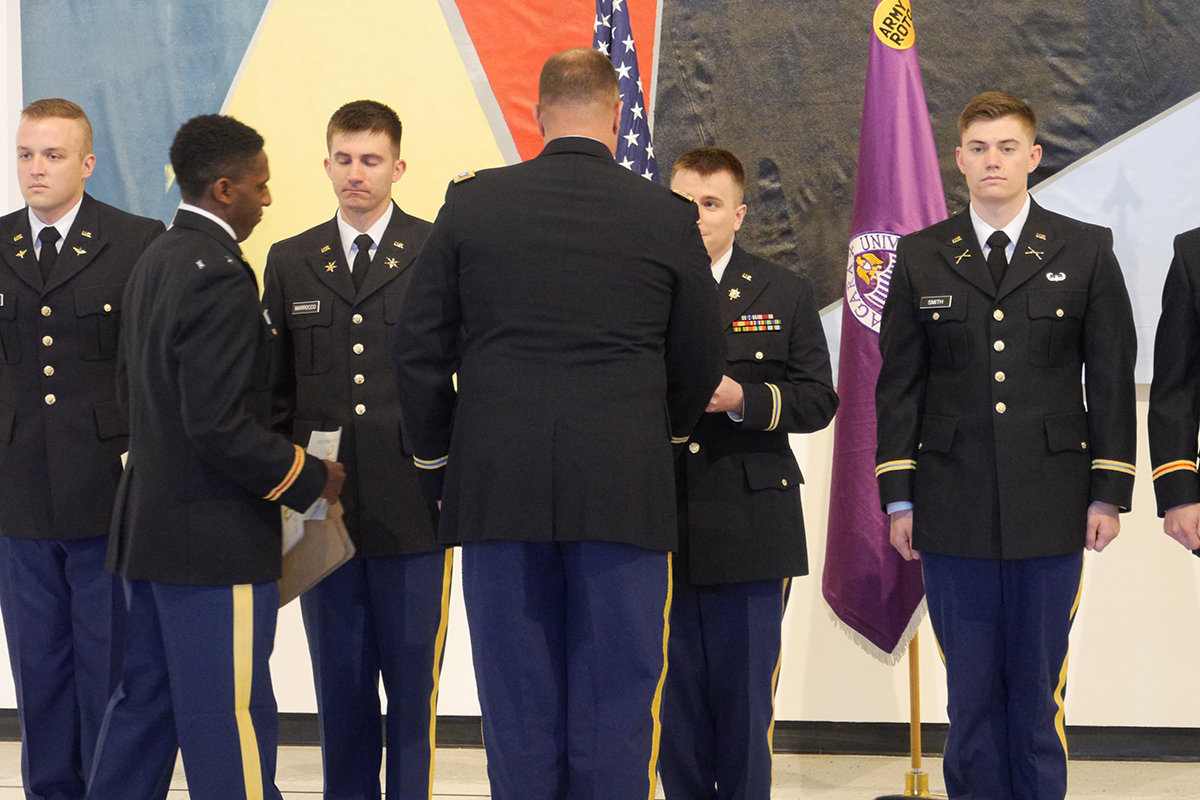 ROTC Cadets Recognized During Spring 2018 Awards Ceremony