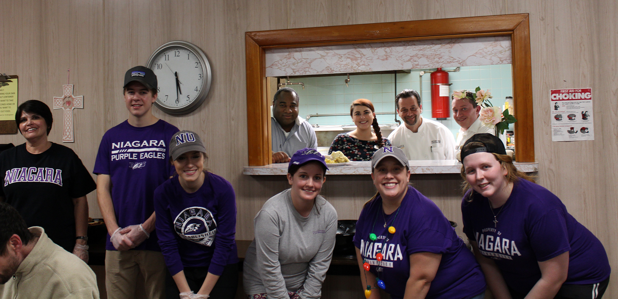 Niagara University Students Offer Meals, Music & Gifts to Soup Kitchen Guests